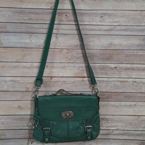 Genuine Leather Green Fossil Purse